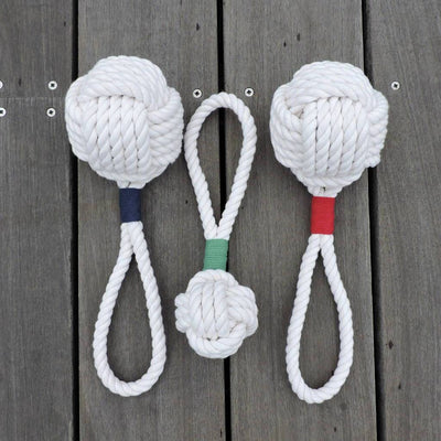 Nautical Monkey Fist Rope Dog Toy Handmade sailor knot American Made in Mystic, CT $ 18.00