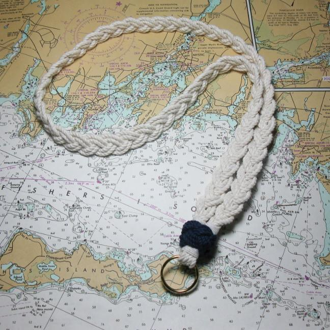 Nautical Knot Woven Lanyard w/ Sailor Knot handmade at Mystic Knotwork