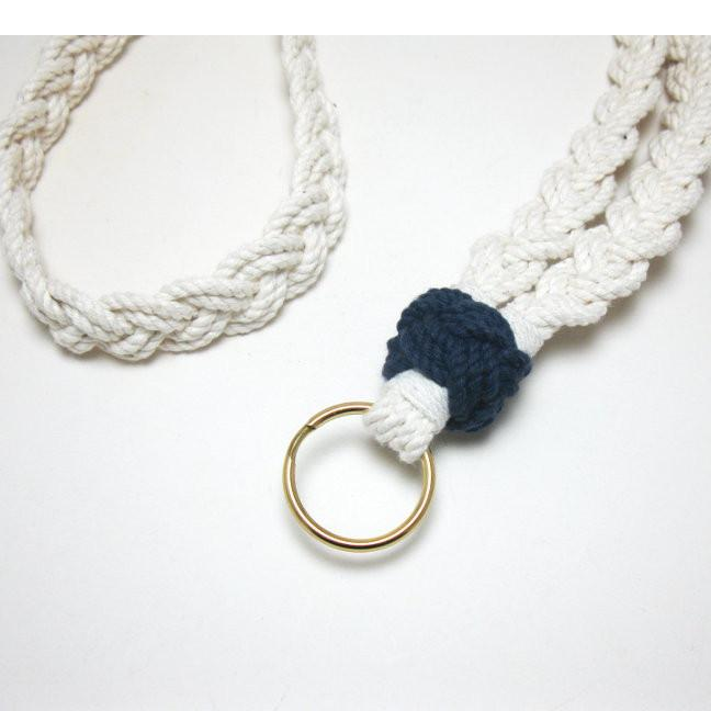 Nautical Woven Lanyard w/ Sailor Knot Handmade sailor knot American Made in Mystic, CT $ 35.00