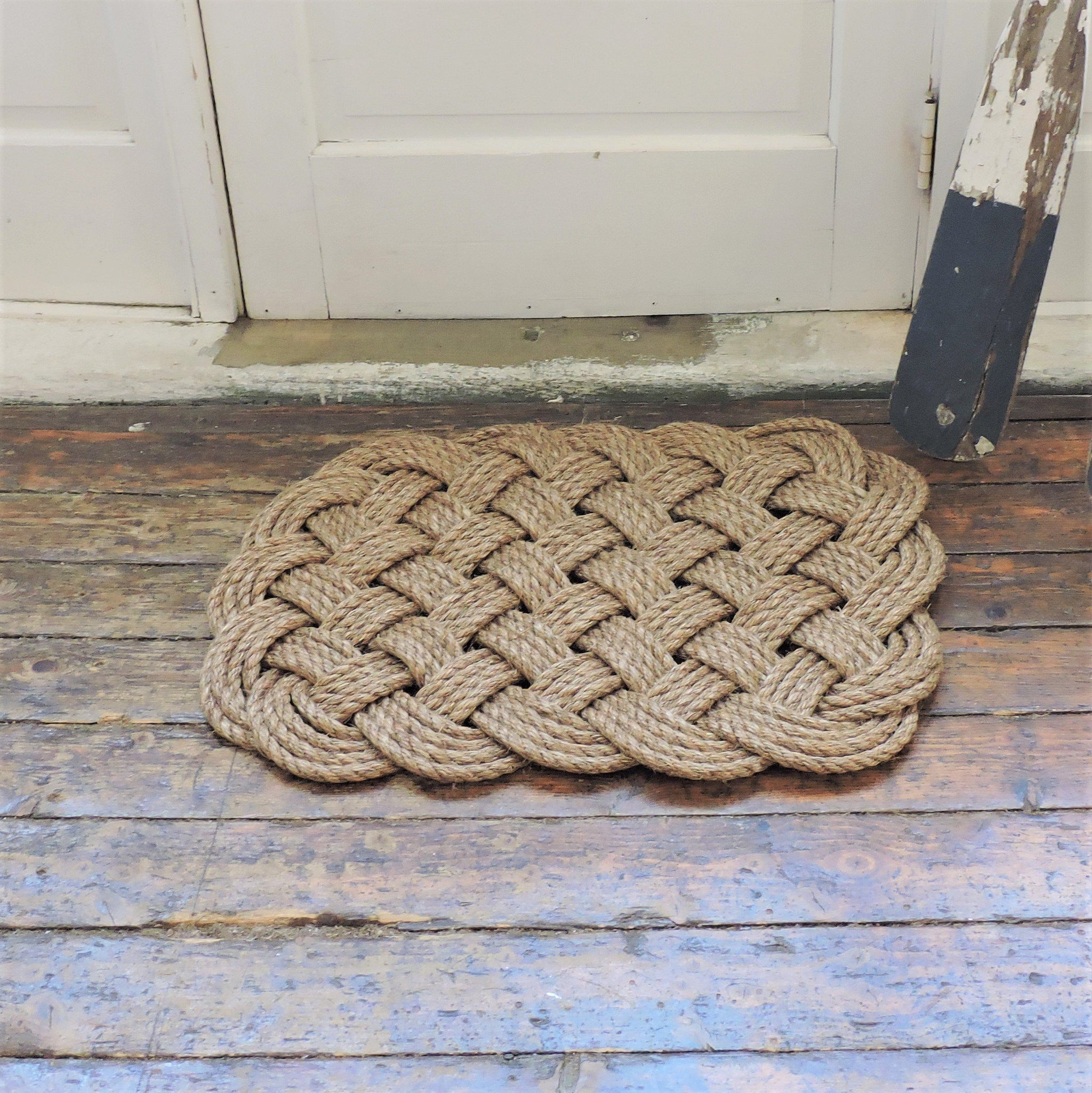 Woven Nautical Rug Entry Mat In Manila Rope ...