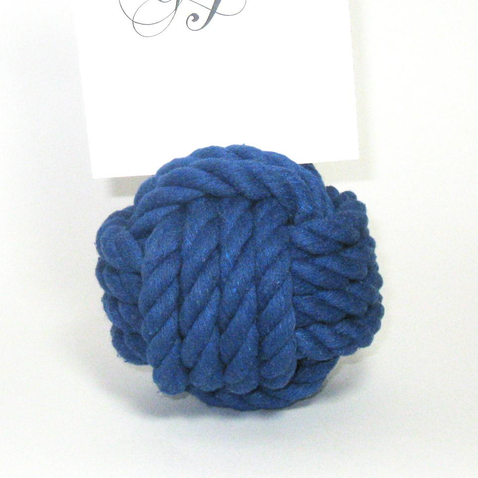 "Nautical Nautical Knot Card Holder, Blue, 4.5"", 4-Pass Handmade sailor knot American Made in Mystic, CT $ 9.50"