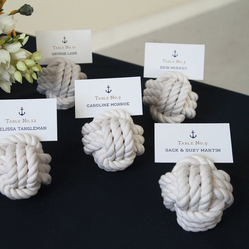 "Nautical Nautical Knot Card Holder, White, 3"", 3-Pass Handmade sailor knot American Made in Mystic, CT $ 6.65"