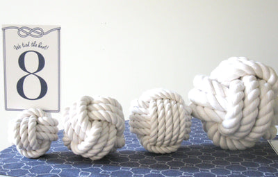 "Nautical Knot Nautical Knot Card Holder, White, 3"", 3-Pass handmade at Mystic Knotwork"