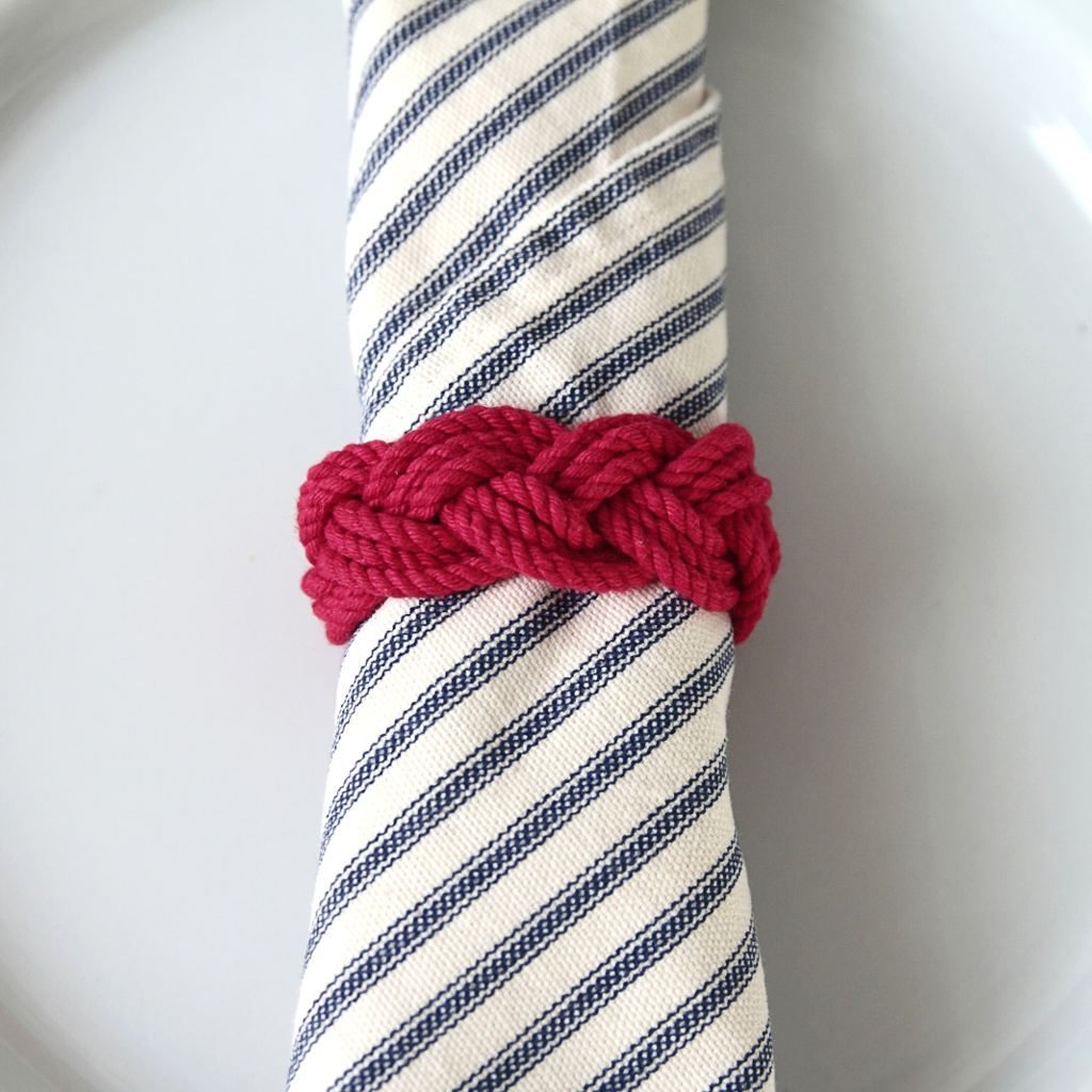Nautical Bulk Pricing Sailor Knot Napkin Rings Turks head knot Set of 4 Handmade sailor knot American Made in Mystic, CT $ 12.80