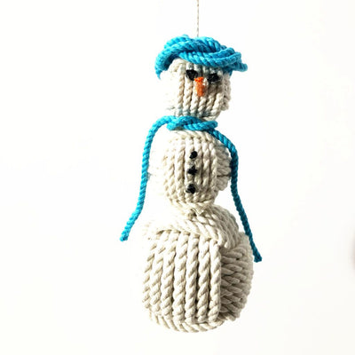 Nautical Snowman Hand Woven Monkey Knots for your tree -all choices-