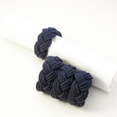 Nautical Knot Sailor Knot Napkin Rings Turks head knot Set of 4 handmade at Mystic Knotwork