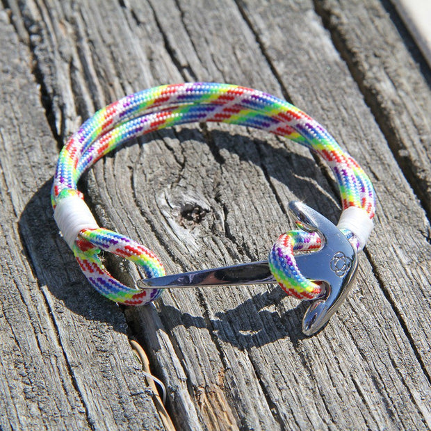 Rainbow Nautical Anchor Bracelet Stainless Steel 137 1