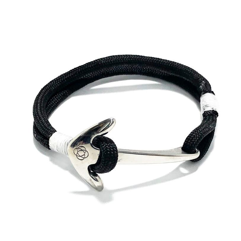 Nautical Knot Black Nautical Anchor Bracelet Stainless Steel 02 handmade at Mystic Knotwork