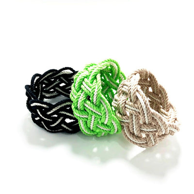 Wide Striped Sailor Knot Bracelet 18 Colors
