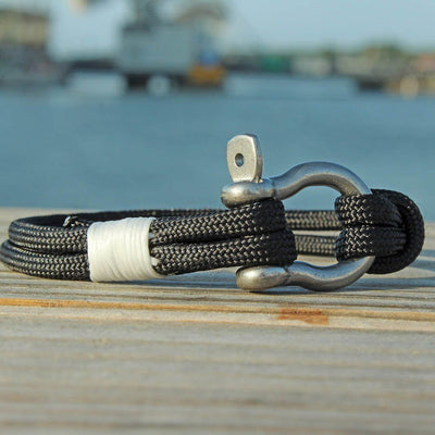 Black Nautical Shackle Bracelet 002