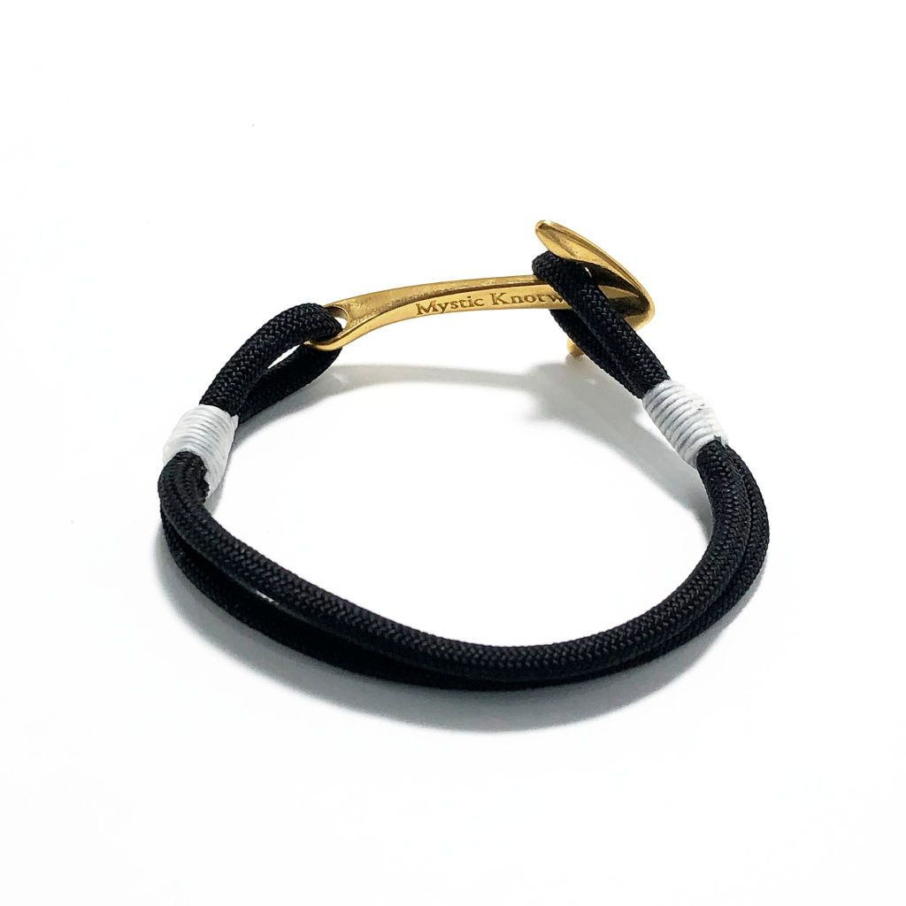 Black Nautical Anchor Bracelet Brass 002