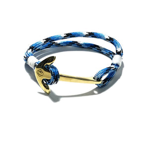 Blue Ice Nautical Anchor Bracelet Brass 074