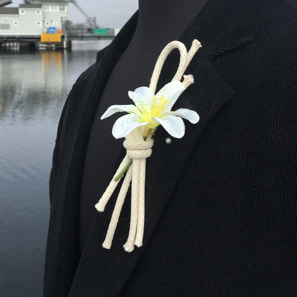 Nautical Nautical Lapel Knot Braided Cord Overhand Knot Boutonniere Handmade sailor knot American Made in Mystic, CT $ 3.00