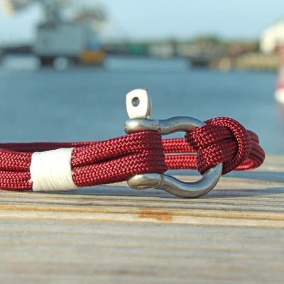 Burgundy Nautical Shackle Bracelet 022
