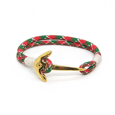 Christmas Nautical Anchor Bracelet Brass 069