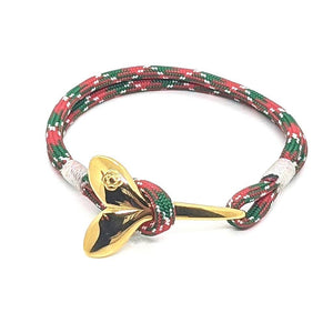 Christmas Nautical Whale Tail Bracelet Brass 069
