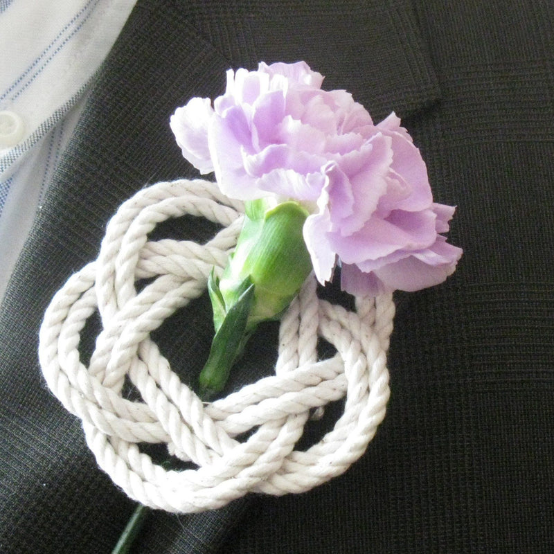 Nautical Sailor Knot Boutonniere Handmade sailor knot American Made in Mystic, CT $ 4.00