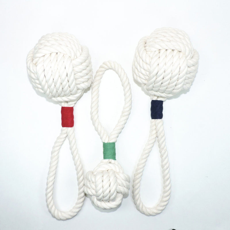 Nautical Monkey Fist Rope Dog Toy Handmade sailor knot American Made in Mystic, CT $ 15.00