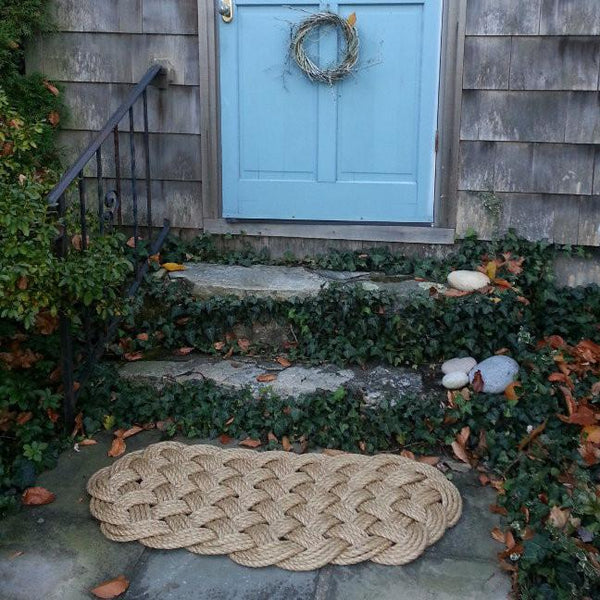 Large Nautical Rope Mat from natural Manila Rope 2275 - Mystic Knotwork  - 2