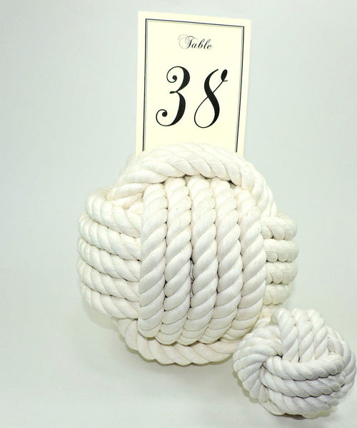 "Nautical Knot Card Holder, White, 9"", 5-Pass - Mystic Knotwork  - 2"