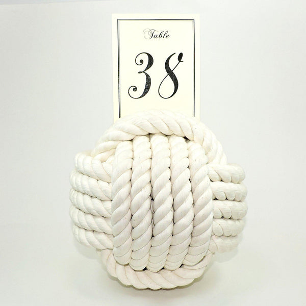 "Nautical Knot Card Holder, White, 9"", 5-Pass - Mystic Knotwork nautical knot"
