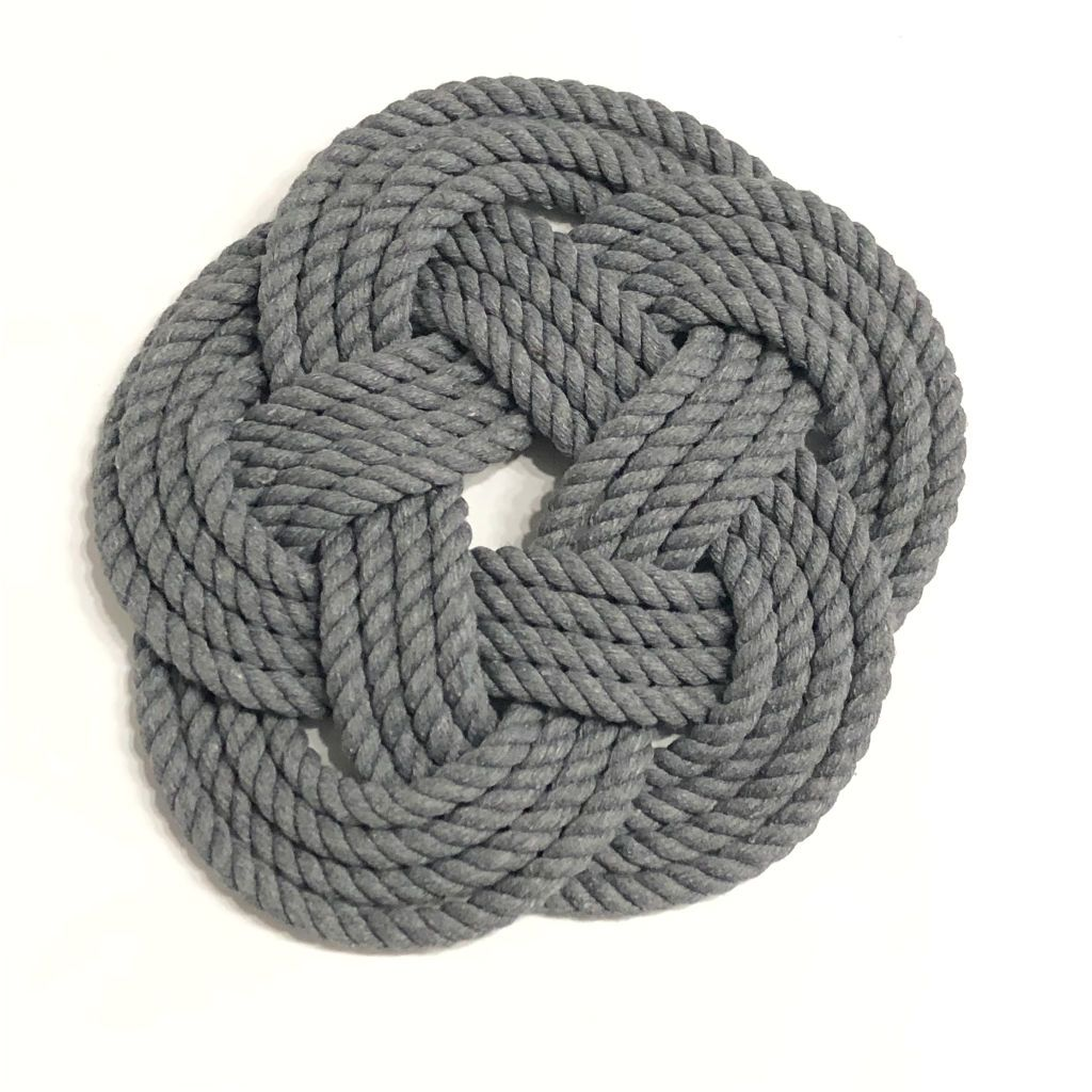 "10"" Nautical Sailor Knot Trivet, Natural Cotton Rope, Large"