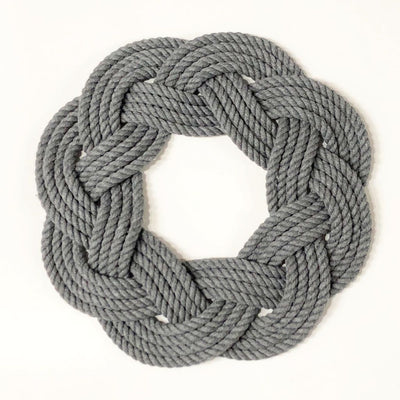 Nautical Sailor Knot Wreath or Centerpiece, Gray Handmade sailor knot American Made in Mystic, CT $ 50.00