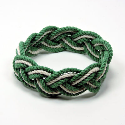 Nautical Striped Sailor Bracelet, Tropical Colors w/ White Stripe Handmade sailor knot American Made in Mystic, CT $ 6.00