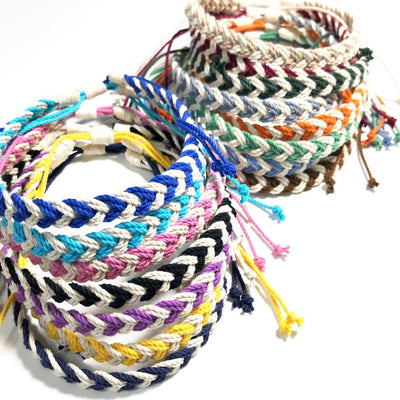 Adjustable Woven Chevron Necklace, choose from 17 colors