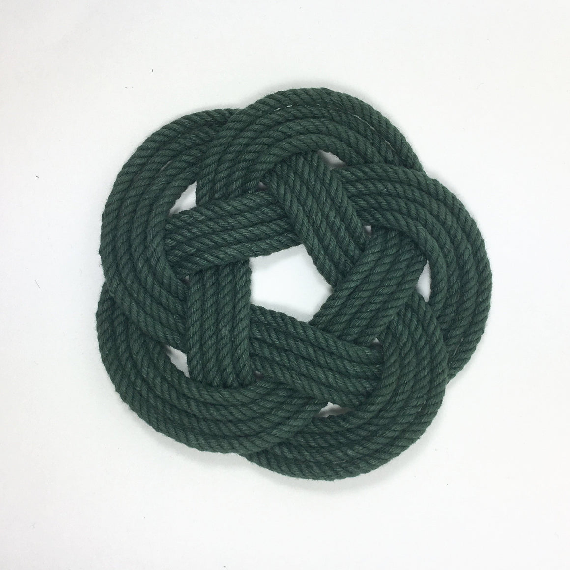Sailor Knot Coasters, Forest Green , Set of 4
