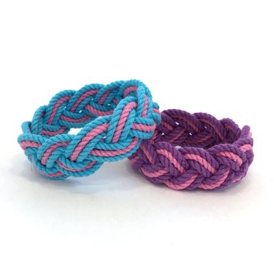 Nautical Striped Sailor Bracelet, Custom Colors - Choose Your Own Handmade sailor knot American Made in Mystic, CT $ 6.00