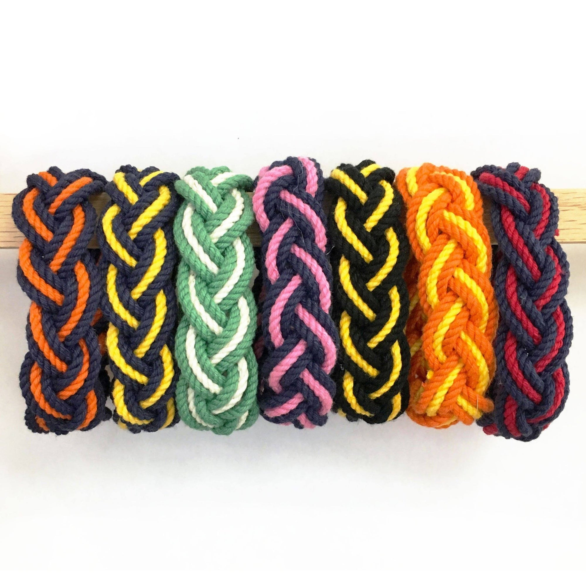Nautical Striped Sailor Bracelet, Custom Colors - Choose Your Own Handmade sailor knot American Made in Mystic, CT $ 4.80