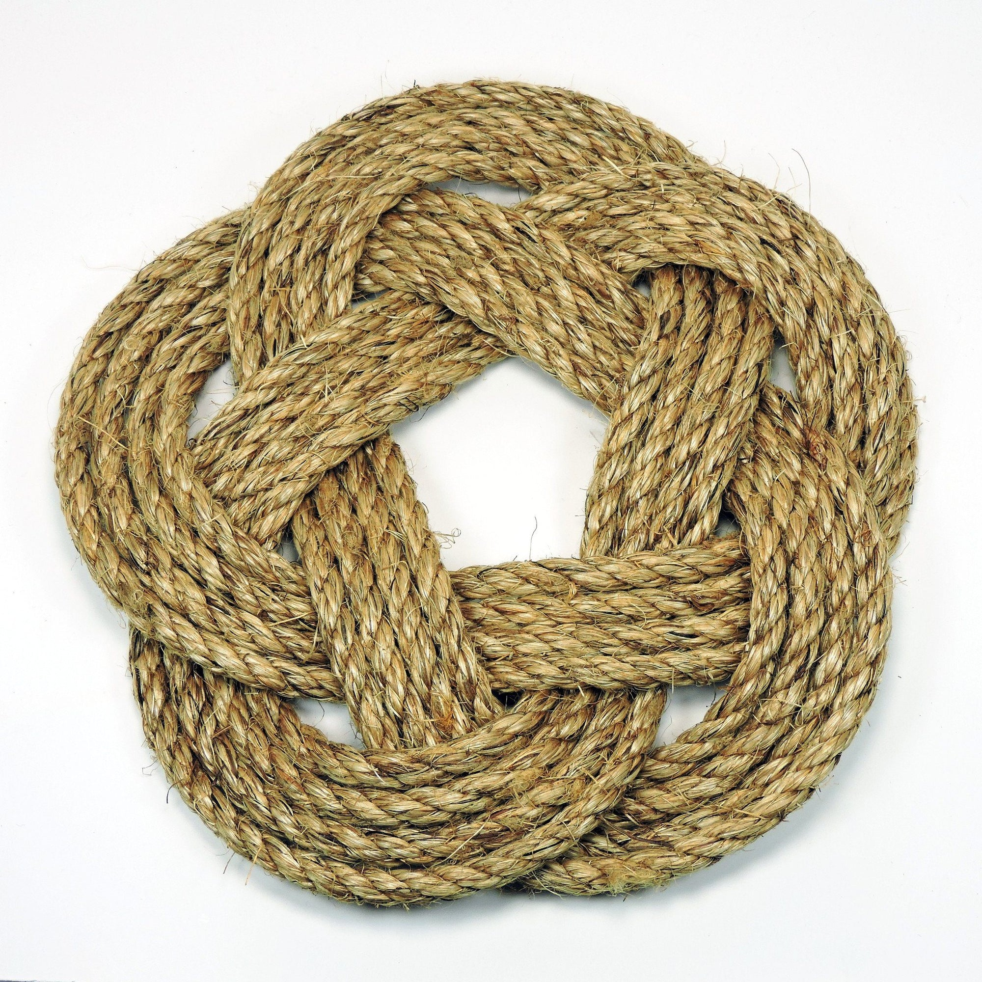 Nautical Knot Nautical Sailor Knot Trivet, Manila Rope, Large handmade at Mystic Knotwork