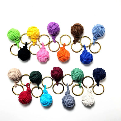 Nautical Knot Monkey Fist Key Chain, Modern, Choose from 18 colors handmade at Mystic Knotwork