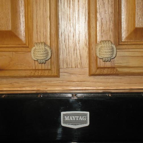 Nautical Monkey Fist Drawer Pull Knobs Handmade sailor knot American Made in Mystic, CT $ 6.40