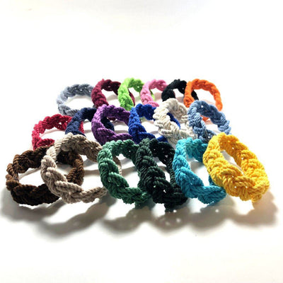 Nautical Knot Narrow Sailor Bracelet, Choose from 18 Colors handmade at Mystic Knotwork