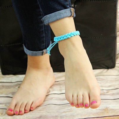 Nautical Knot Adjustable Woven Anklet, Choose from 17 Colors handmade at Mystic Knotwork