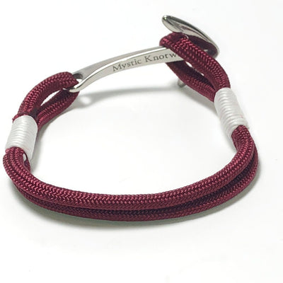 Nautical Burgundy Nautical Anchor Bracelet Stainless Steel 022 Handmade sailor knot American Made in Mystic, CT $ 25.00