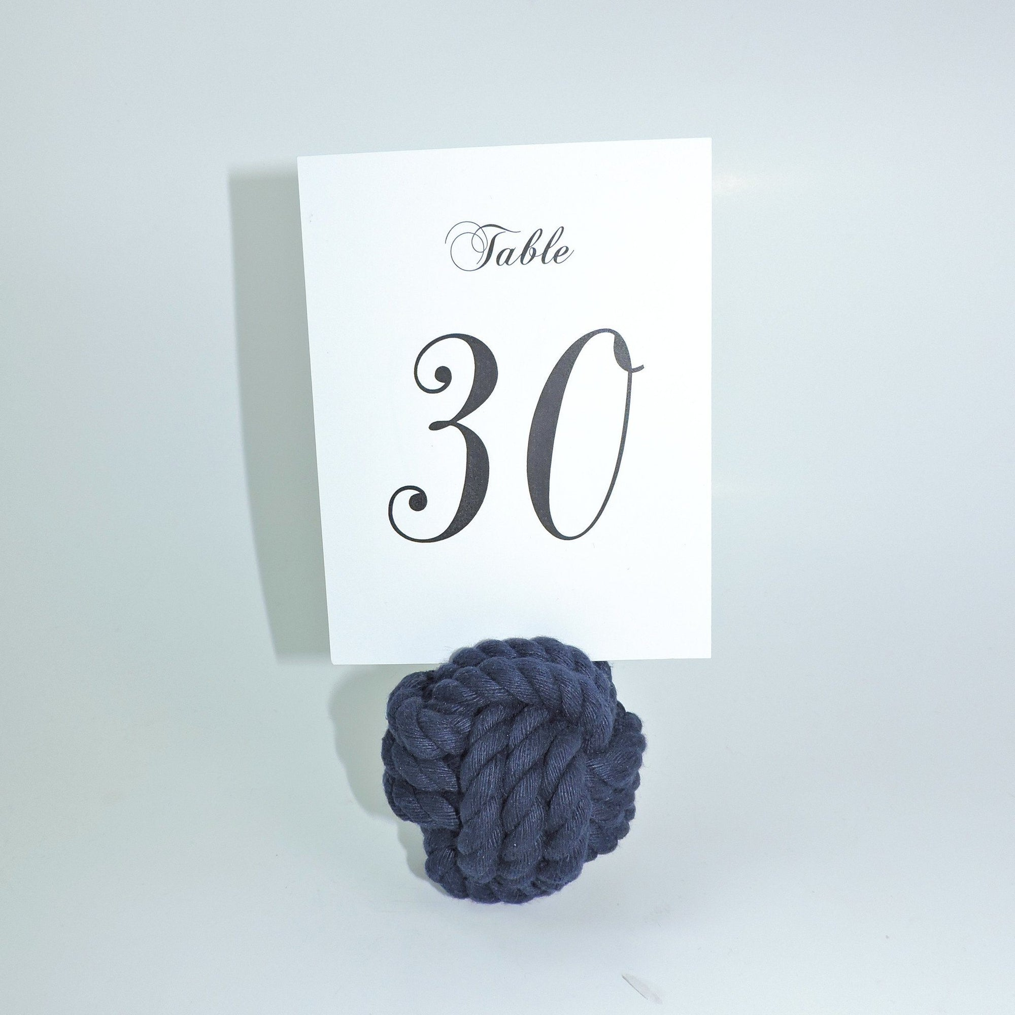 "Nautical Knot Nautical Knot Card Holder, Navy, 3"", 3-Pass handmade at Mystic Knotwork"