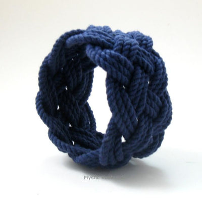 Nautical Knot Wide Sailor Knot Bracelet handmade at Mystic Knotwork