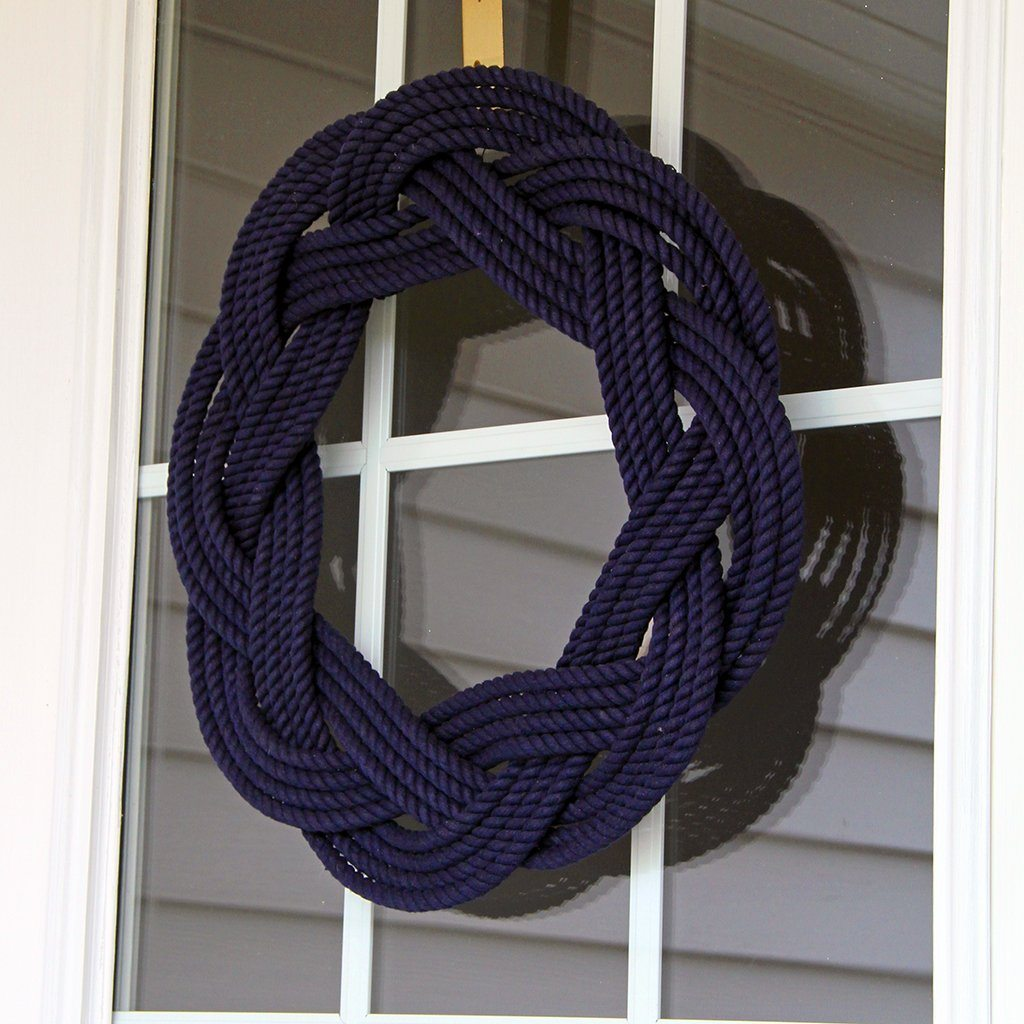 Sailor Knot Wreath or Centerpiece, Navy Blue WITH FRAME