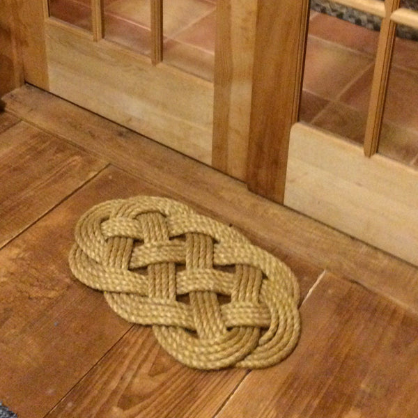 Door Mat, Ocean Plait Knot - Mystic Knotwork nautical knot