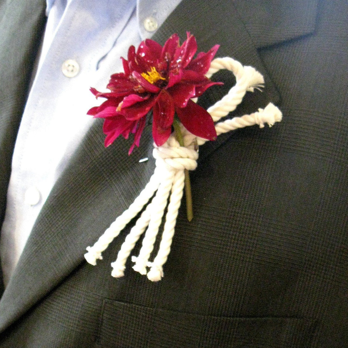 Overhand Knot Boutonniere - Mystic Knotwork nautical knot