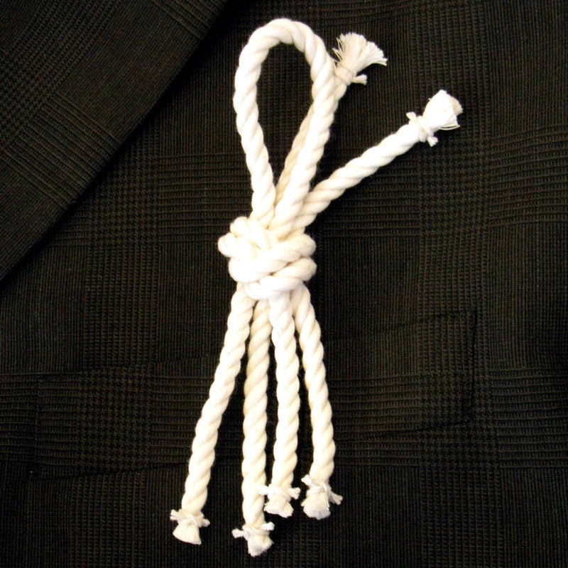 Nautical Overhand Knot Boutonniere Handmade sailor knot American Made in Mystic, CT $ 4.00