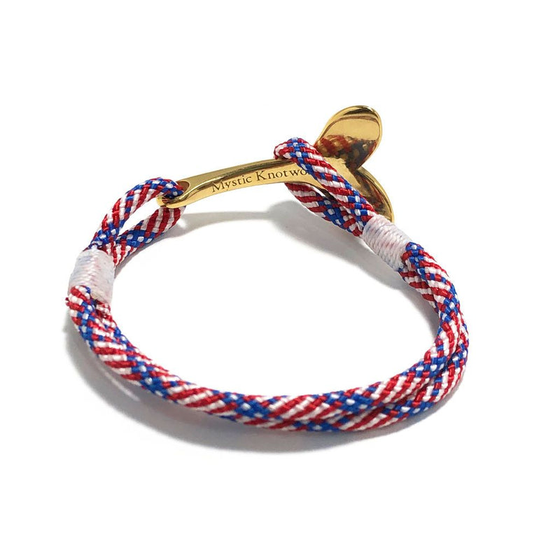 Patriotic Nautical Whale Tail Bracelet Brass 187