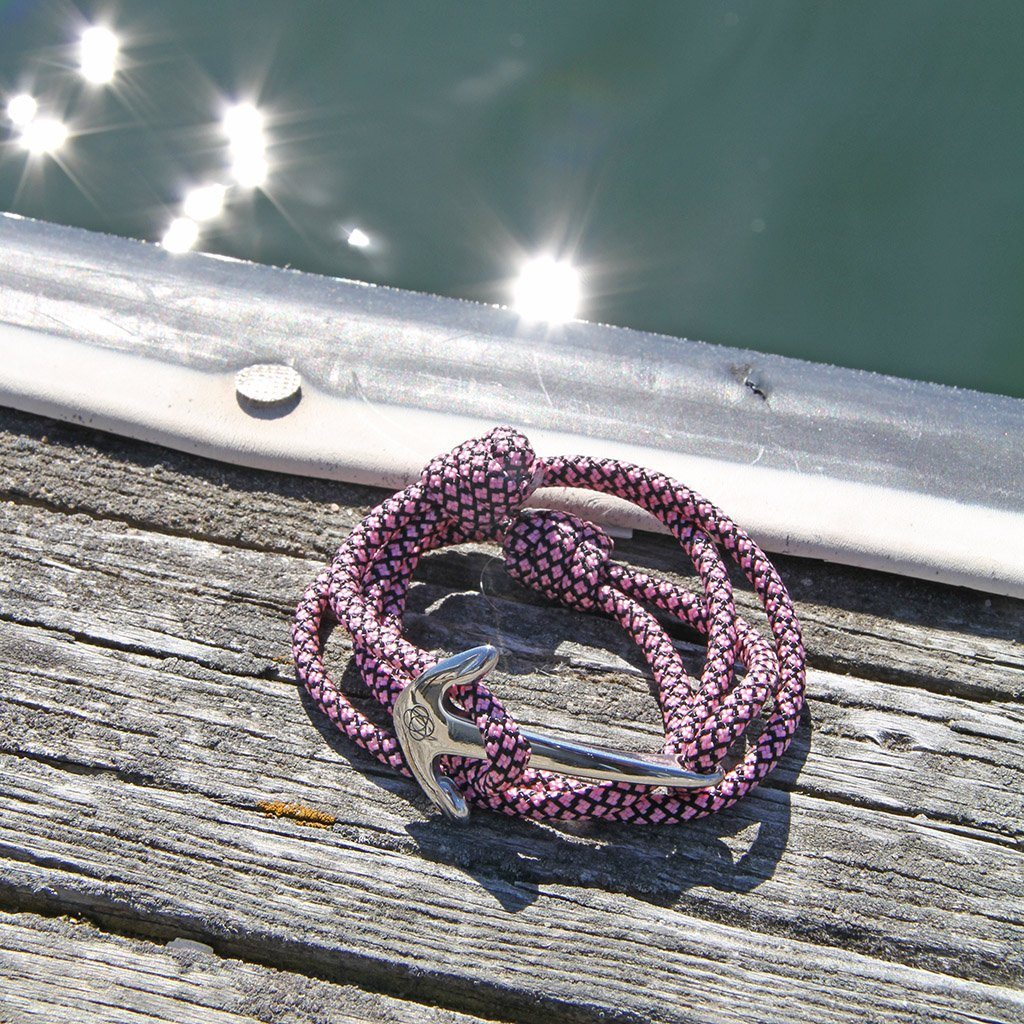Pink  Diamond Adjustable Anchor Wrap Use as a Bracelet,Anklet,or Necklace 326