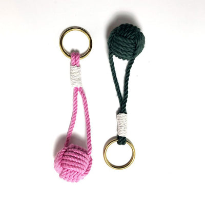 Nautical Knot Monkey Fist Key Chain, Traditional, Choose from 18 Colors handmade at Mystic Knotwork