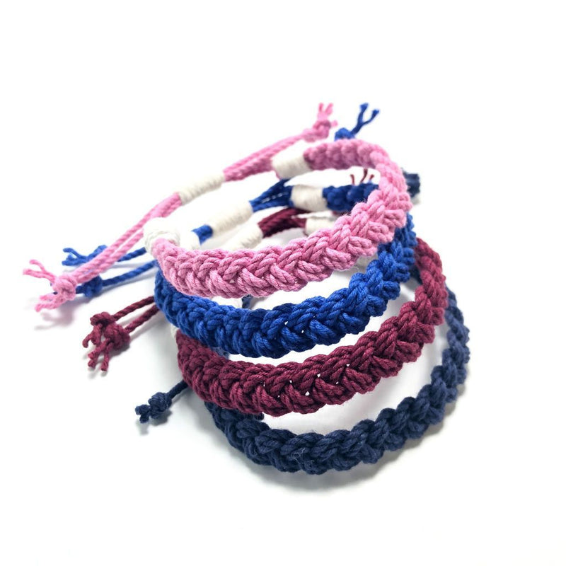 Nautical Knot Adjustable Woven Bracelet, Choose from 17 Colors handmade at Mystic Knotwork