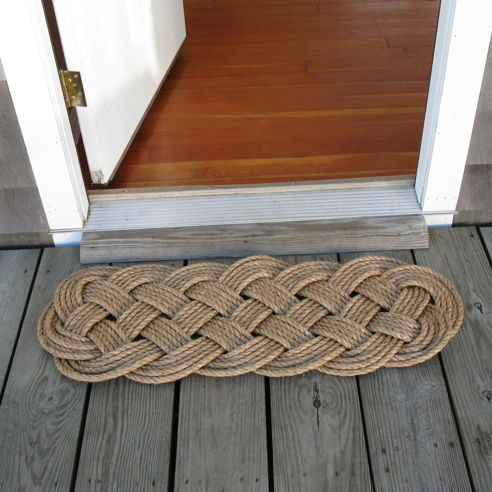 Nautical Knot Door Mat, Prolong Knot handmade at Mystic Knotwork