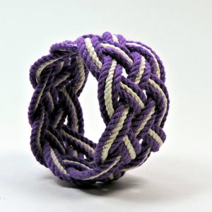 Wide Striped Sailor Knot Bracelet - Mystic Knotwork  - 12